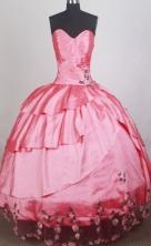 Romantic Ball Gown Sweetheart Neck Floor-length Quinceanera Dress LZ42612