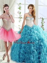Sophisticated Rolling Flowers Detachable Quinceanera Dresses with Brush TrainSJQDDT557002FOR