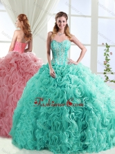 Visible Boning Beaded and Applique Detachable Quinceanera Dresses in Rolling FlowersSJQDDT566002FOR