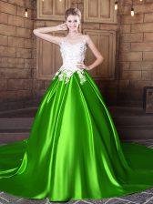 Floor Length Sweet 16 Quinceanera Dress Scoop Sleeveless Lace Up
