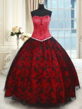 Exceptional Lace Sleeveless Floor Length Sweet 16 Dresses and Lace