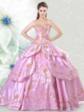 Latest Floor Length Ball Gowns Sleeveless Lilac Quinceanera Dresses Lace Up