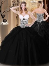 Simple Sleeveless Lace Up Floor Length Pick Ups and Pattern Vestidos de Quinceanera