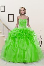 Pick Ups Sweetheart Sleeveless Lace Up Pageant Gowns For Girls Organza