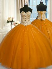 Dramatic Sleeveless Lace Up Floor Length Beading and Sequins Quinceanera Dresses