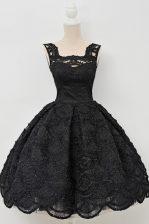 Sleeveless Lace Zipper Evening Dress