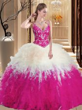 Beauteous Straps Floor Length Ball Gowns Sleeveless Multi-color Ball Gown Prom Dress Lace Up