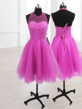 Sleeveless Sequins Lace Up Prom Evening Gown