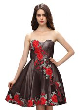 Chic Sleeveless Embroidery Zipper Dress for Prom