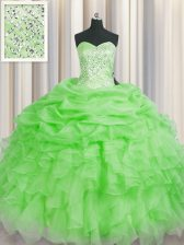 Floor Length Ball Gown Prom Dress Sweetheart Sleeveless Lace Up