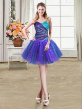 Designer Multi-color Sleeveless Tulle Lace Up for Prom and Party