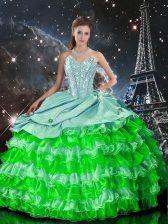 Enchanting Sweetheart Sleeveless Zipper Quinceanera Dresses Multi-color Organza