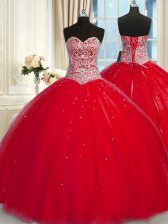 Halter Top Tulle Sleeveless Sweet 16 Dress and Beading and Sequins