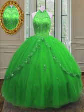 Fantastic Floor Length Ball Gowns Sleeveless Sweet 16 Dress Lace Up