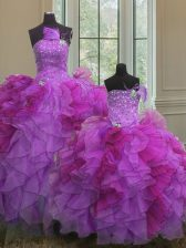 Floor Length Ball Gowns Sleeveless Multi-color Vestidos de Quinceanera Lace Up