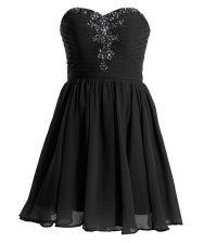 Designer Black Sweetheart Lace Up Beading Dress for Prom Sleeveless