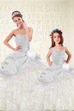 Ruffled Ball Gowns Quinceanera Dresses Multi-color Sweetheart Organza and Taffeta Sleeveless Floor Length Lace Up