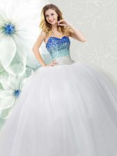 Dazzling Sleeveless Beading Lace Up Quinceanera Dress