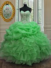 Top Selling Sleeveless Beading and Pick Ups Floor Length Sweet 16 Dresses