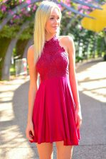Halter Top Sleeveless Appliques Zipper Prom Evening Gown