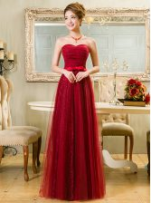 Sweetheart Sleeveless Tulle and Lace Homecoming Dress Belt Zipper