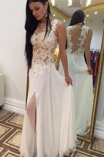 Noble Scoop Sleeveless Beading and Appliques Side Zipper Homecoming Dress