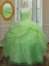 Excellent Pick Ups Floor Length Ball Gowns Sleeveless 15th Birthday Dress Lace Up