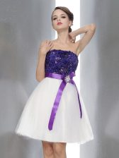 Sleeveless Beading and Sashes ribbons Zipper Prom Evening Gown