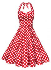 Extravagant Sleeveless Pattern Backless Evening Dress