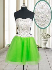 Prom and Party with Beading and Sequins Sweetheart Sleeveless Zipper