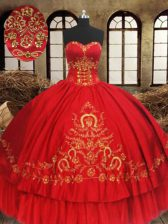 Hot Selling Sleeveless Lace Up Floor Length Beading and Embroidery Vestidos de Quinceanera