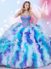 High Class Ball Gowns Sleeveless Multi-color Sweet 16 Quinceanera Dress Lace Up