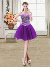 Most Popular Sleeveless Beading Lace Up Prom Dresses