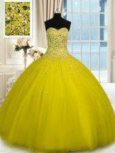 Captivating Sleeveless Beading Lace Up Quinceanera Dress