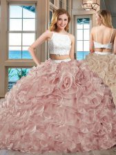Straps Backless Tulle Sleeveless Floor Length Vestidos de Quinceanera and Beading and Ruffles