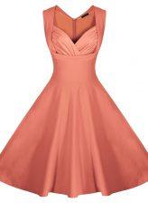 Sweetheart Sleeveless Zipper Prom Dresses Peach Satin