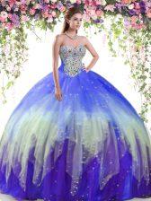 Sleeveless Lace Up Floor Length Beading Vestidos de Quinceanera