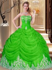 Sweetheart Sleeveless Quince Ball Gowns Floor Length Lace and Appliques Tulle