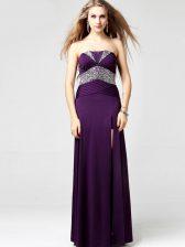 Sleeveless Zipper Floor Length Sequins Prom Party Dress