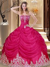 Sweetheart Sleeveless Tulle Sweet 16 Dresses Appliques and Embroidery and Pick Ups Lace Up