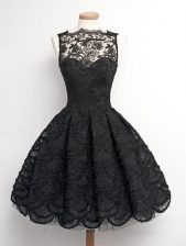 Lace Sleeveless Appliques Zipper Prom Gown