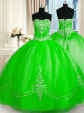 Sleeveless Tulle Lace Up Sweet 16 Dress for Military Ball and Sweet 16 and Quinceanera