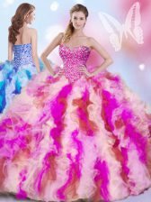 Ball Gowns Sleeveless Multi-color 15th Birthday Dress Lace Up