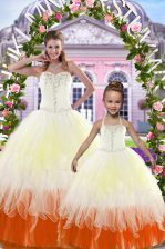 Top Selling Floor Length Lace Up 15 Quinceanera Dress Multi-color for Military Ball and Sweet 16 and Quinceanera with Beading
