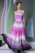 Simple Ruching Evening Dress Multi-color Side Zipper Sleeveless Floor Length