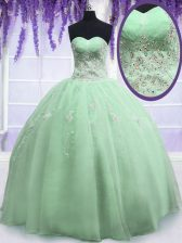 Affordable Yellow Green Sleeveless Organza Zipper Sweet 16 Dresses for Military Ball and Sweet 16 and Quinceanera