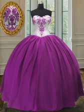 Fabulous Sleeveless Beading Lace Up Ball Gown Prom Dress