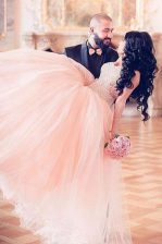 Pink Prom with Beading Sweetheart Sleeveless Lace Up