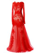Red Prom and Military Ball and Sweet 16 with Beading and Lace Scalloped Sleeveless Zipper