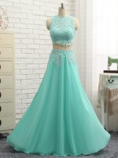 Mini Length Side Zipper Apple Green for Prom and Party and Beach with Lace and Appliques